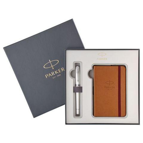 Набор Parker Urban Premium Pearl Metal CT (2018975) ручка перьевая и блокнот с пером M