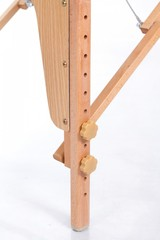 Массажный стол деревянный 3-хсекционный RESTPRO VIP OVAL 3 Cream