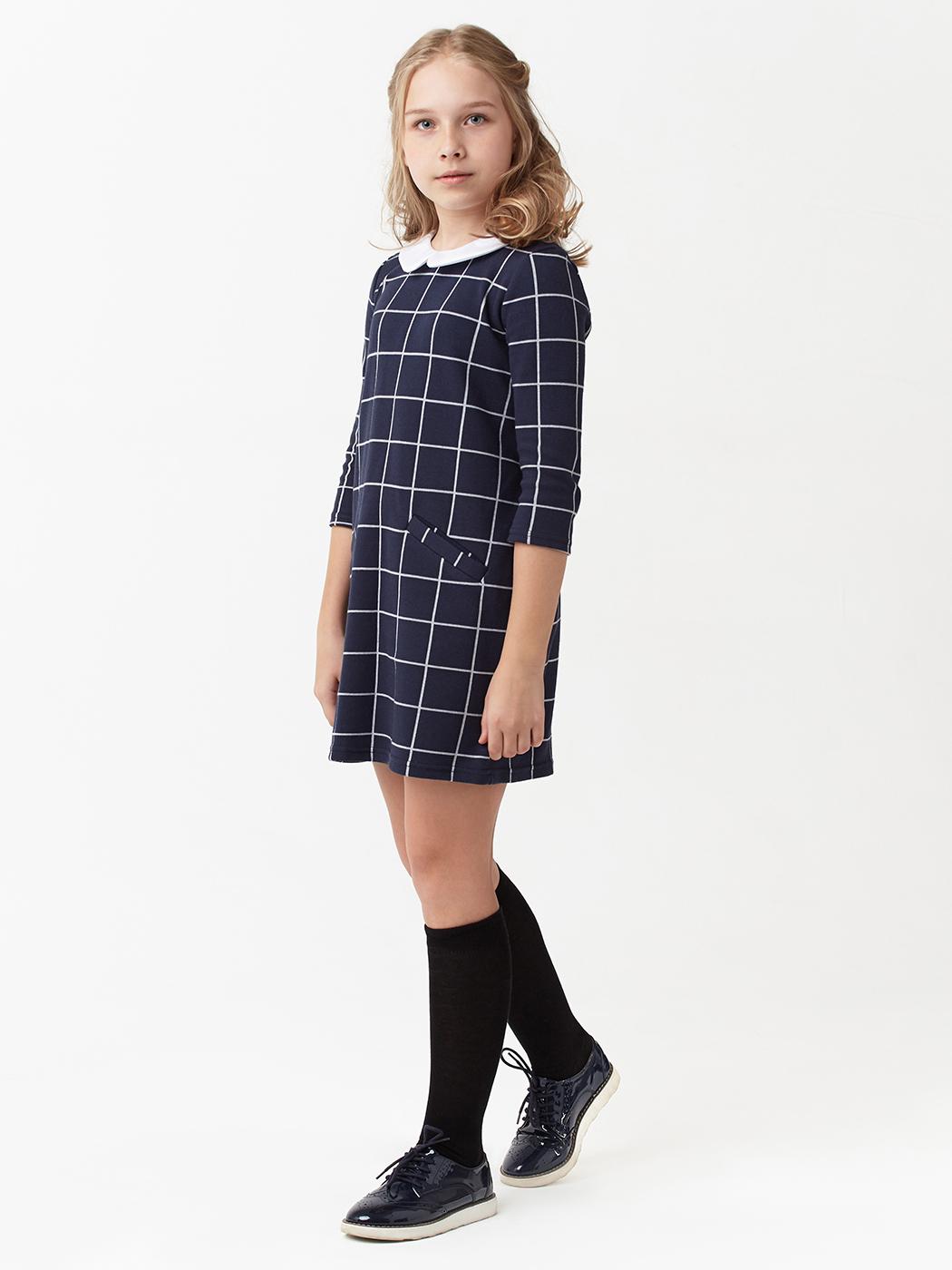 Платье трикотажное из хлопка