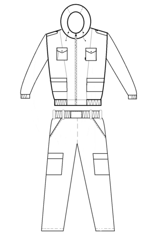 Костюм Демисезонный Склон (Ткань Полофлис PR393-1) Вожак
