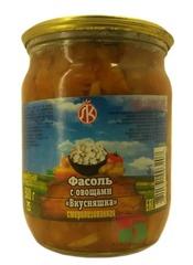 Белорусская консервация Фасоль с овощами