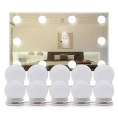 Светодиодные лампочки на зеркало для макияжа с регулируемой яркостью (набор 10 шт)