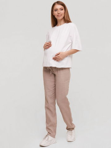 Льняные штаны для беременных Doha
