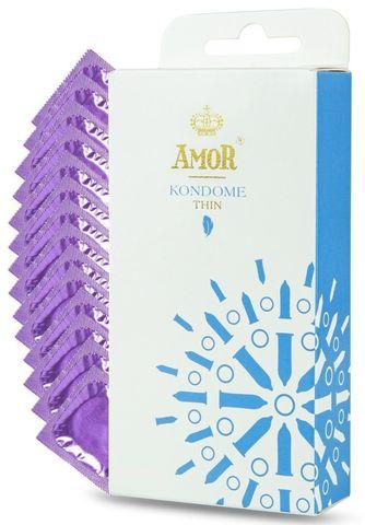 Супертонкие презервативы AMOR Thin - 12 шт.