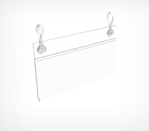 Ценникодержатель универсальный (без клипс), прозрачный DBH 39-TR-1000