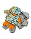 Большой трикотажный комплект (акулы) - Оранжевый. Одежда для кукол, пупсов и мягких игрушек.