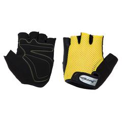 Велоперчатки JAFFSON SCG 46-0398 (чёрный/жёлтый)