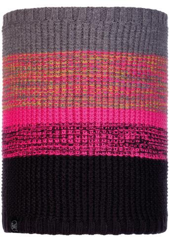 Вязаный шарф-труба с флисом Buff Neckwarmer Knitted Polar Alyona Melange Grey фото 1