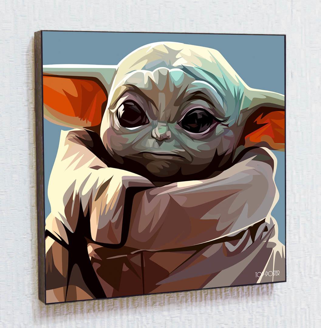 Малыш Йода Картина ПОП-АРТ портрет постер