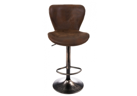 Барный стул Over vintage brown 47*47*91 Окрашенный металл /Коричневый