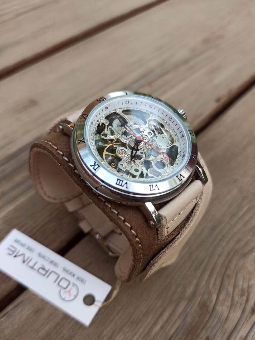 Часы скелетоны мужские механические Cowboy YOURTIME