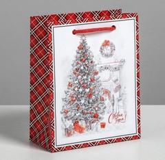 Пакет ламинированный вертикальный «Новогодний уют», S 5.5 × 12 × 15 см