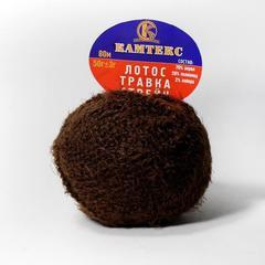 лотос-травка-стрейч-063-шоколад