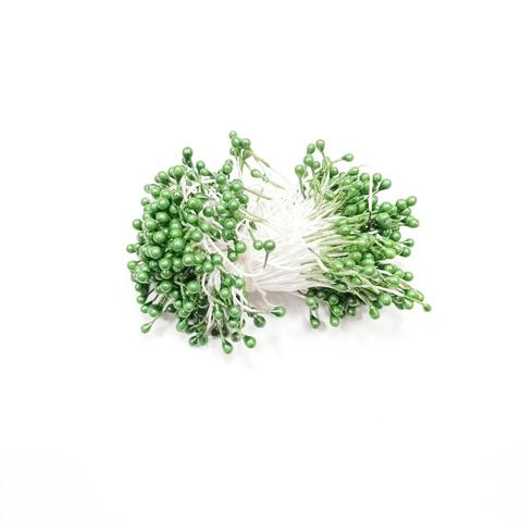 Тычинки для цветов, зелёные, 50 шт