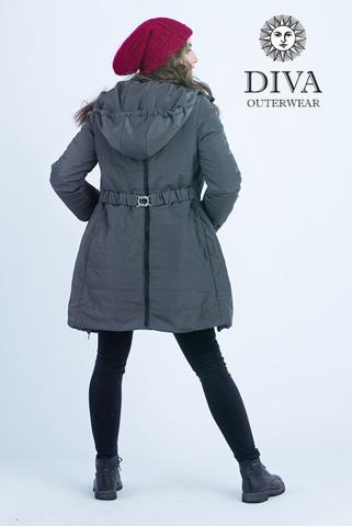 Куртка 4в1 зимн. Diva Outerwear Grafite для беременных и слингоношения