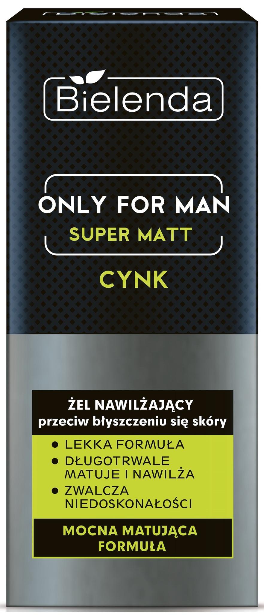 BIELENDA ONLY FOR MEN Увлажняющий гель SUPER MAT 50мл