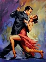 Картина раскраска по номерам 40x50 Танго