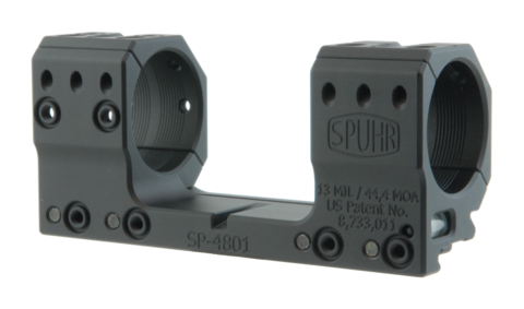 Тактический кронштейн SPUHR D34мм на Picatinny, H30мм, наклон 13MIL/44.4MOA (SP-4801)