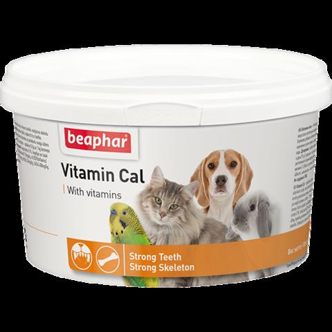 Кормовая добавка Vitamin Cal для кошек, собак, грызунов и птиц 250 г.