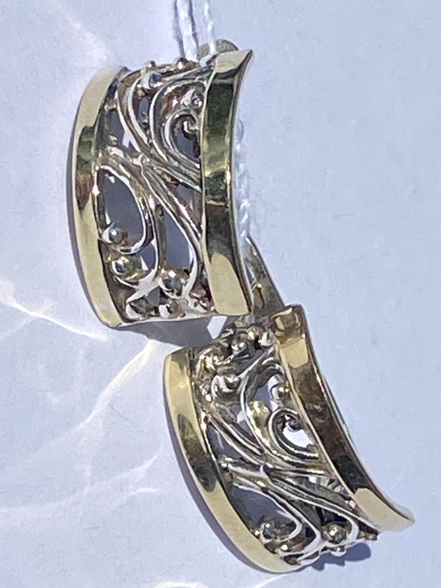 Зернь 1130м(серьги из серебра/золота)