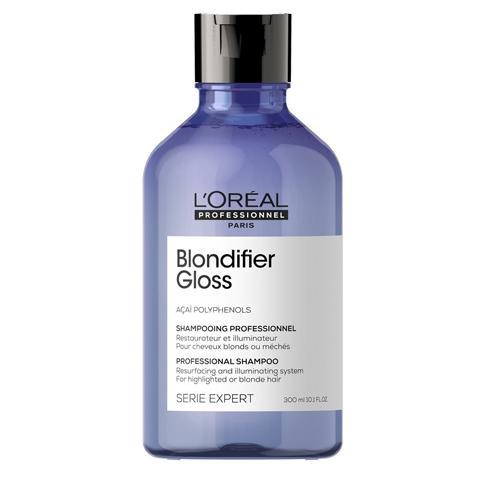 L'Oreal  Professionnel Blondifier: Шампунь для сияния волос, восстанавливающий (Gloss Shampoo), 300мл/1.5л