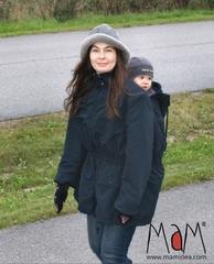 Куртка для слингоношения зимняя МаМ Babywearing Сoat, Чёрный