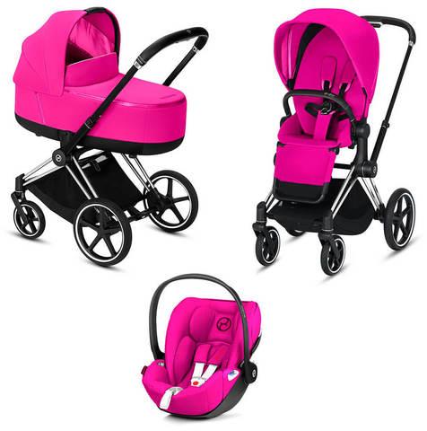 Детская коляска Cybex Priam III 3 в 1 Fancy Pink шасси Matt Black
