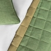 Комплект штор и покрывало Джулия зеленый