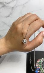 89032 - Колье из серебра с танцующим фианитом