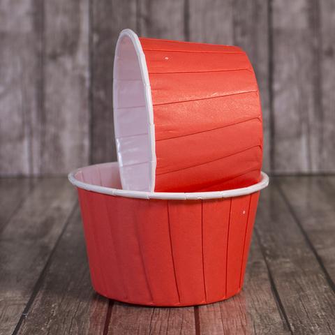 Капсулы для капкейков усиленные,красные,20шт, 50*40мм