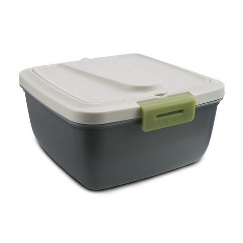 Контейнер Арктика 030-1600 квадр. 1.6л. пластик серый/зеленый (030-1600/GRE)