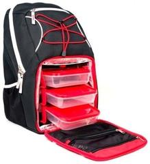 Рюкзак с контейнерами для еды 6 Pack Fitness Pursuit Backpack 300 Black/Red/White - 2