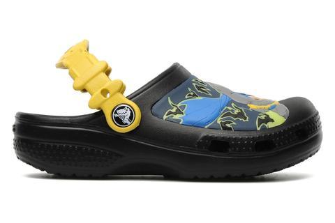 Сабо Крокс (Crocs) пляжные шлепанцы кроксы для мальчиков, цвет черный. Изображение 5 из 7.
