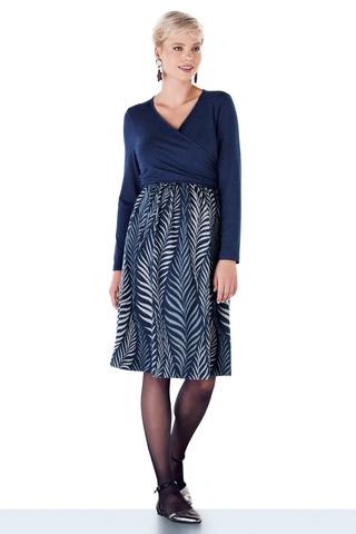 Платье для беременных и кормящих 10806 синий