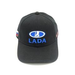 Кепка с вышитым логотипом ЛАДА (Бейсболка LADA) черная
