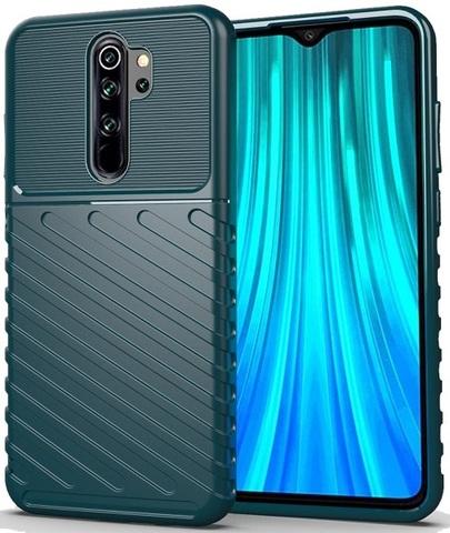 Чехол для Xiaomi Redmi Note 8 Pro цвет Green (зеленый), серия Onyx от Caseport