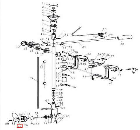 Винт для лодочного мотора T3,5 Sea-PRO