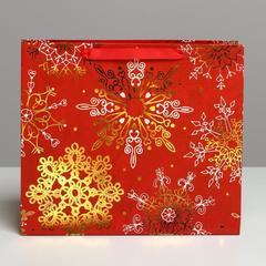 Пакет ламинированный горизонтальный «Новогоднее великолепие», M 30 × 26 × 9 см, 1 шт.
