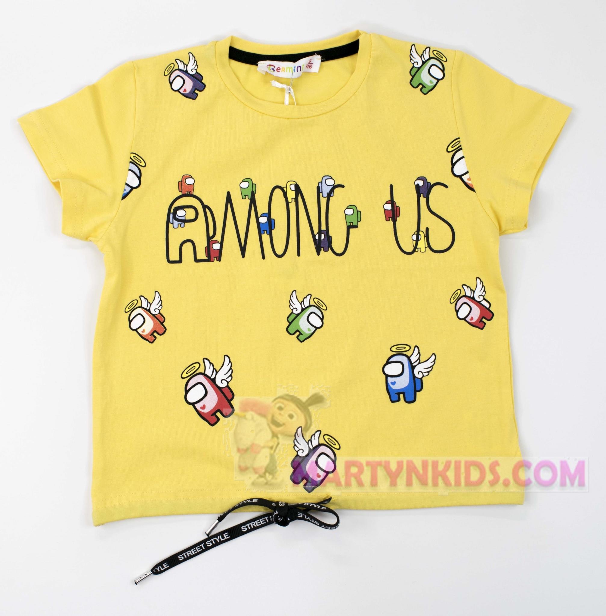 3199  футболка-топик AMONG US