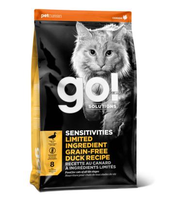 Сухой корм Корм для котят и кошек, GO! Sensitivity + Shine Grain Free Duck Cat Recipe, беззерновой, с чувствительным пищеварением, со свежей уткой 2021-03-19_17-17-01.png