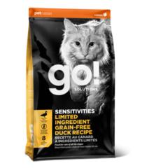 Корм для котят и кошек, GO! Sensitivity + Shine Grain Free Duck Cat Recipe, беззерновой, с чувствительным пищеварением, со свежей уткой