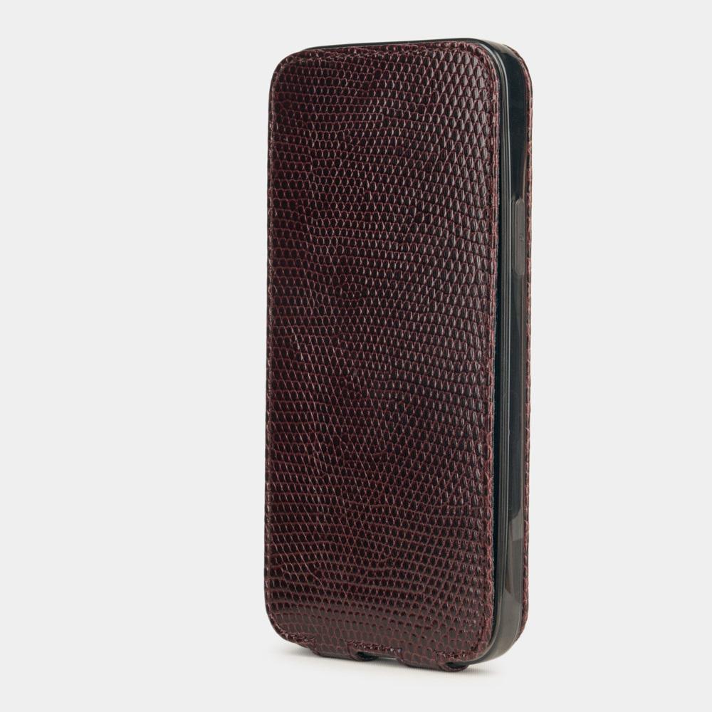 Case for iPhone 12 mini - lizard bordeaux