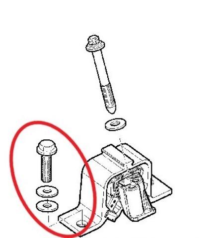 Болт крепления правой опоры  двигателя (М10х50) Лада Веста, Ларгус, Xray (8450020641)