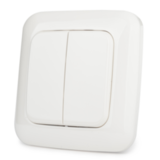 Настенный двухклавишный выключатель на батарейках Z-Wave.Me Dual Paddle Wall Controller