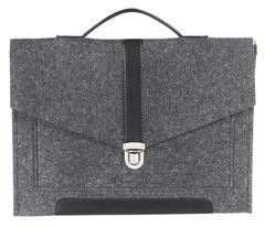 Черный войлочный портфель Gmakin для Macbook Air/Pro 13,3 с экокожей