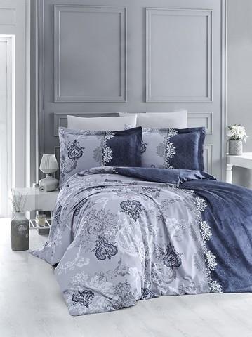 Комплект постельного белья DO&CO Сатин DELUX  LONA семейный цвет синий