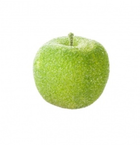 Набор яблок засахаренных на проволоке 6шт., диаметр: 6см, цвет: зеленый