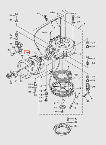 Отбойник стартера для лодочного мотора T40 Sea-PRO (7-24)