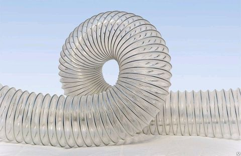 Воздуховод Tex PVC 500, D130 мм (1 метр) из ПВХ (поливинилхлорида)