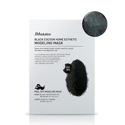 Альгинатная маска с экстрактом древесного угля и шелкопряда JMsolution Black Cocoon Home Esthetic Modeling Mask